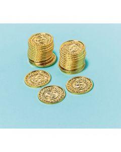 Plastik guldmønter
