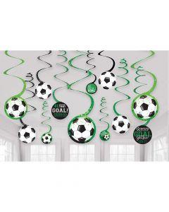 Loft dekorationer med fodbold tema