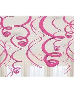 Loft spiraler i pink