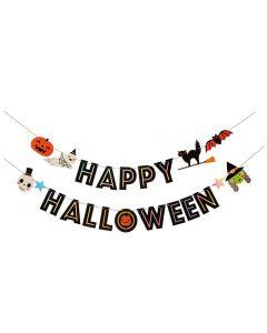 Halloween banner med motiver
