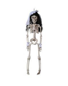Halloween skelet - Brud med slør