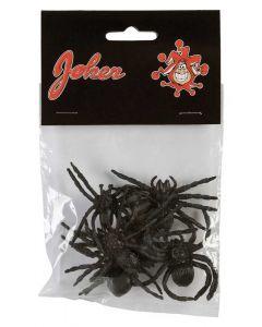 Plastik edderkopper 6 stk. - 5 cm.