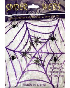 Edderkoppespind med edderkopper - 60 g.