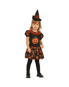Halloween kjole med græskar