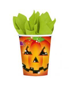 Halloween papkrus 8 stk. - Græskar