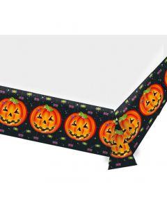 Halloween plastikdug 137 x 259 cm. - Græskar