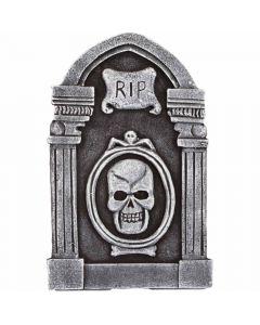 Halloween gravsten med kranie