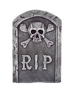 Halloween gravsten kranie og knogler