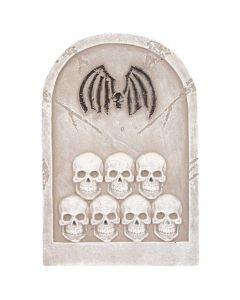 Halloween gravsten med kranier
