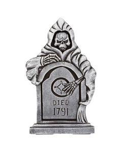Halloween gravsten med reaper