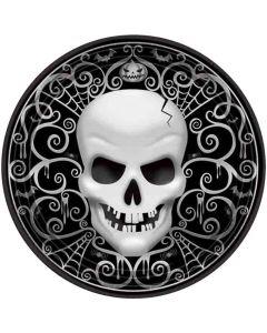 Halloween paptallerkner 8 stk. - Kranie