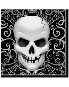Halloween servietter 16 stk. - Kranie