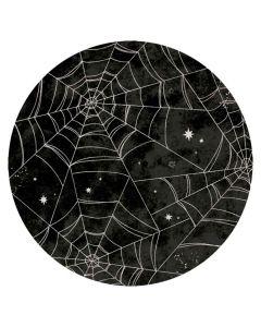 Halloween paptallerkner 8 stk. - Spindelvæv