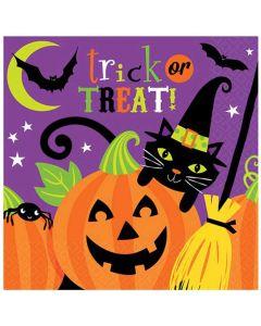 Halloween servietter 16 stk. - Heksetema