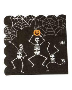 Halloween servietter med skeletter
