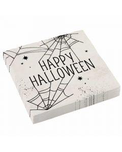 Halloween servietter med spindelvæv