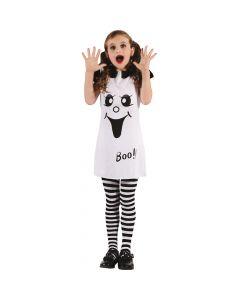 Halloween kjole med motiv af spøgelse