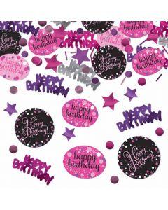 Happy Birthday konfetti 34 g. - Pink
