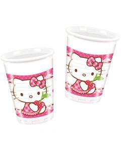 Hello Kitty plastikkrus 8 stk.