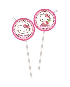 Hello Kitty sugerør 6 stk.