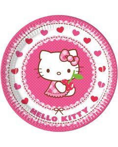Hello Kitty paptallerkner 8 stk.