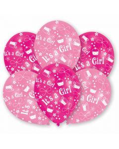 Baby girl balloner i pink