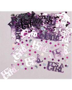 It´s a Girl konfetti - Metal folie - 14 g.