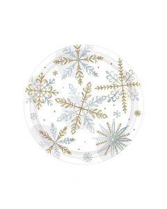 Jule kagetallerkner med snefnug