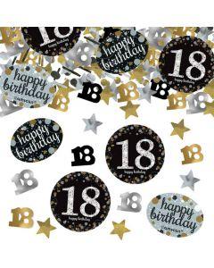 18 års fødselsdag konfetti 34 g. - Sølv