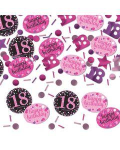 18 års fødselsdag konfetti 34 g. - Pink