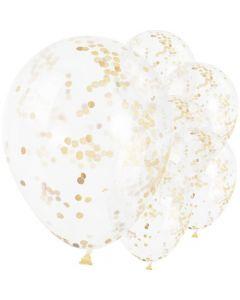 Guld konfetti balloner