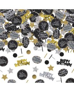Happy Birthday konfetti 34 g. - Sølv
