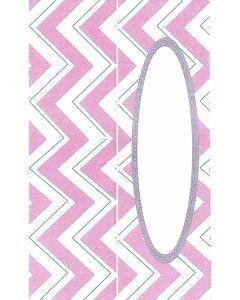 Bordkort / Glaskort 10 stk. med sølvtryk - lyserøde