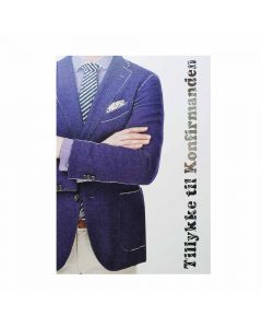 Konfirmationskort blå jakke