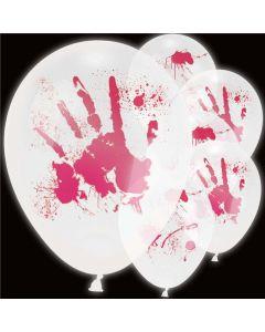 Halloween LED balloner med blodige hænder