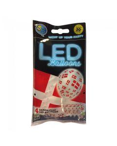 LED balloner med flag