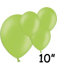 """Limegrønne balloner 10"""" - 100 stk."""