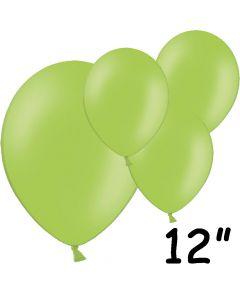 """Limegrønne balloner 12"""" - 100 stk."""