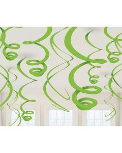 Loft spiraler i limegrøn