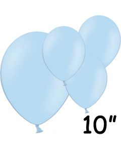 """Lyseblå balloner 10"""" - 100 stk."""