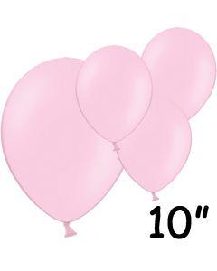 "Lyserøde balloner 10"" - 100 stk."