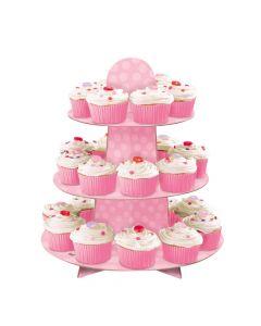 Lyserødt muffins kageopsats
