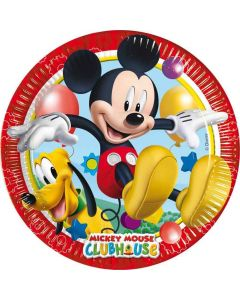 Mickey Mouse Clubhouse paptallerkner 8 stk.