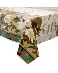 Militær camo plastikdug 1 stk.