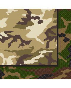 Servietter med militær camo tema