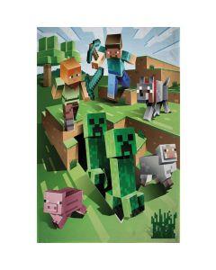 Fleecetæppe med Minecraft
