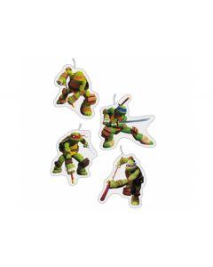 Ninja Turtles kagelys 4 stk.