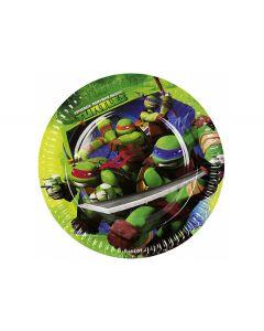 Ninja Turtles paptallerkner 8 stk.