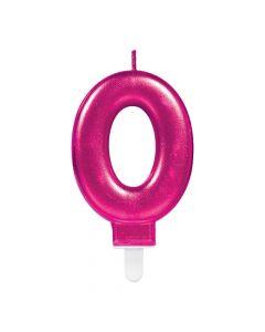 Nummerlys nr. 0 - Pink