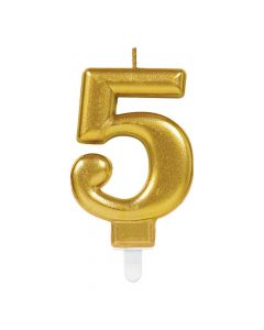 Nummerlys nr. 5 - Guld